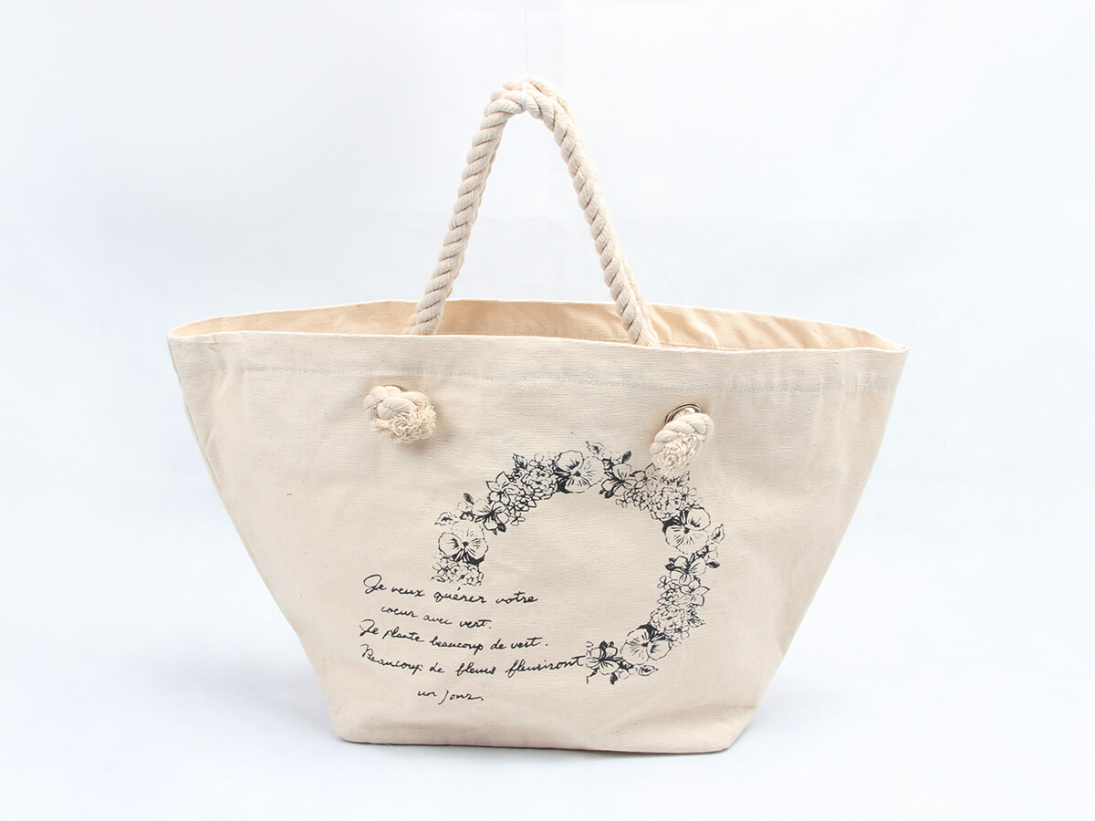Flower Garland Canvas Tote Bags