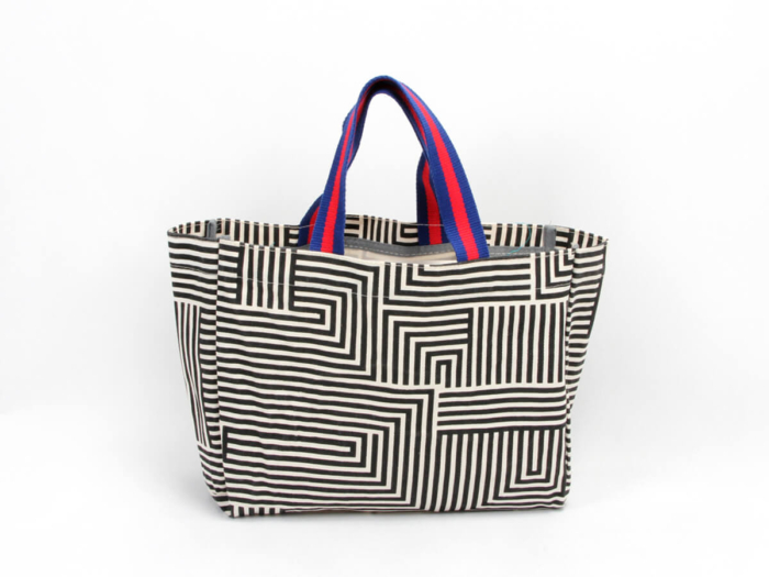 Geometric Maze image Canvas Shopping Handle Bags