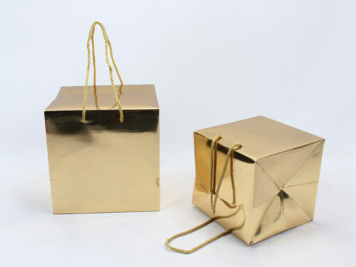 Golden Card Paper Gift Boxes