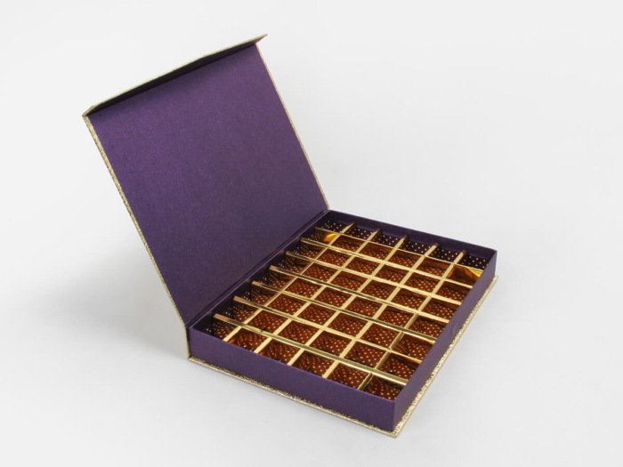 Golden Chocolate Gift Boxes Open Way