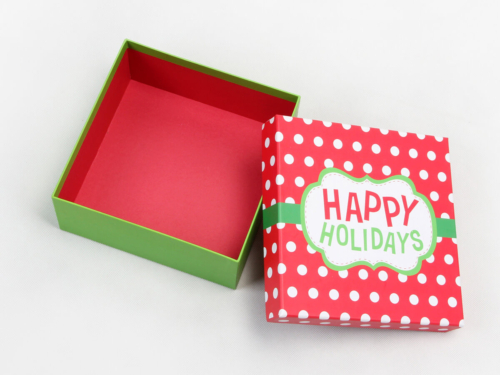Happy Holidays Gift Packaging Boxes