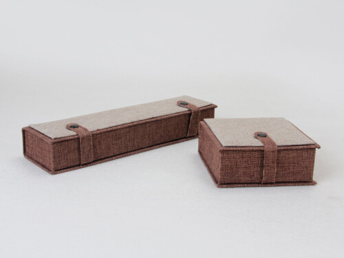 High Grade Imitation Hemp Jewelry Boxes Set