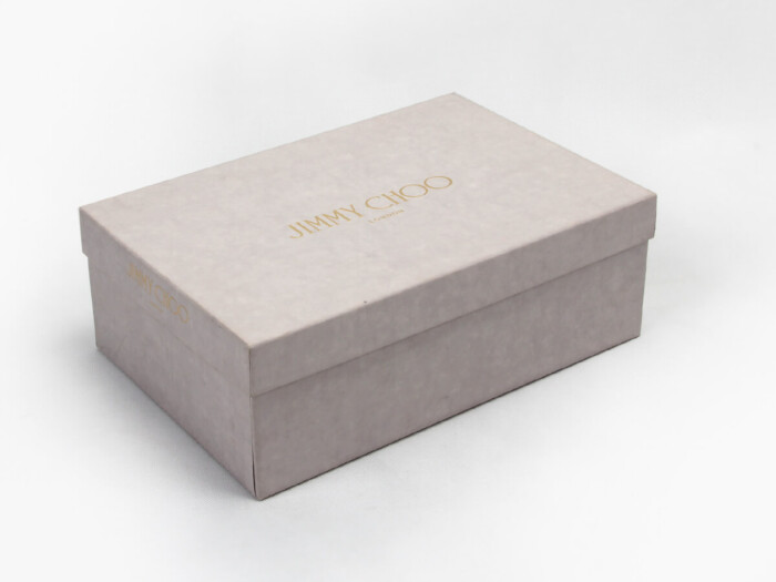 Imitation Parchment Shoe Packaging Boxes Side Display