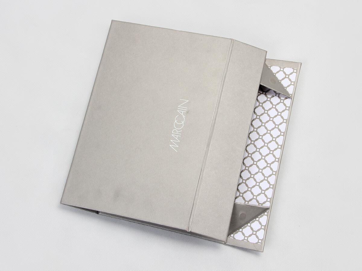 Kraft Paper Shirt Packaging Boxes Folding Way
