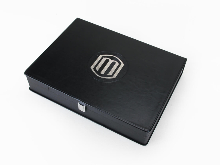 Leather Cosmetic Packaging Boxes Material