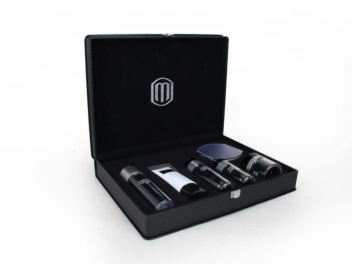 Leather Cosmetic Packaging Boxes
