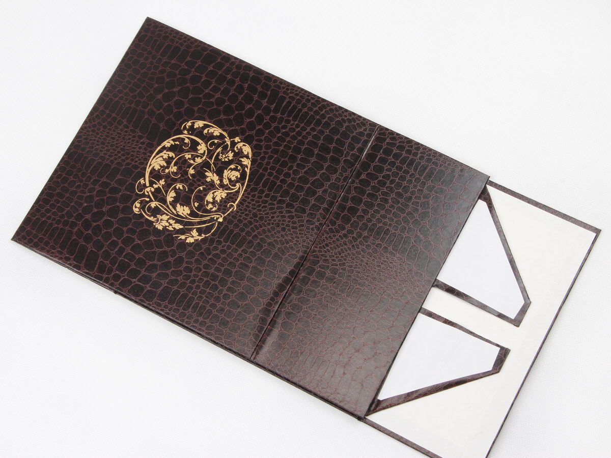 Leather Paper Garment Packaging Boxes Folding