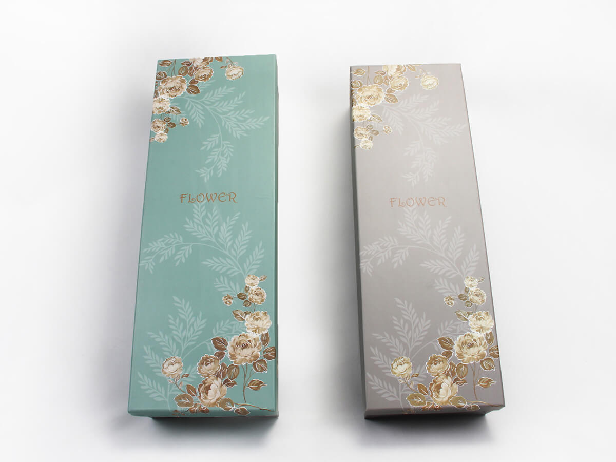 Lengthen Flower Packaging Boxes Printed Detail