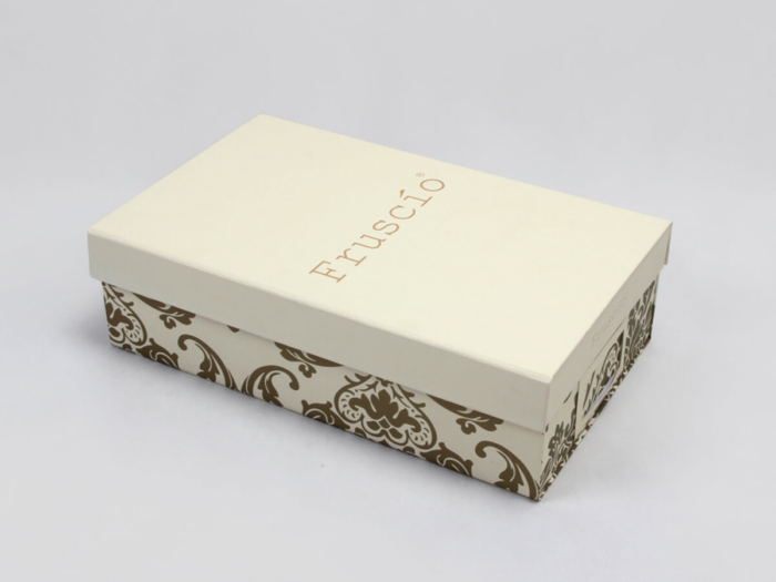 Luxury Folding Shoe Packaging Boxes Side Detail