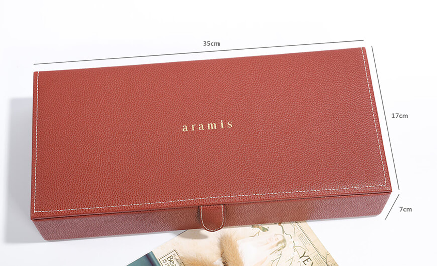 Luxury Leather Cosmetic Packaging Boxes Size