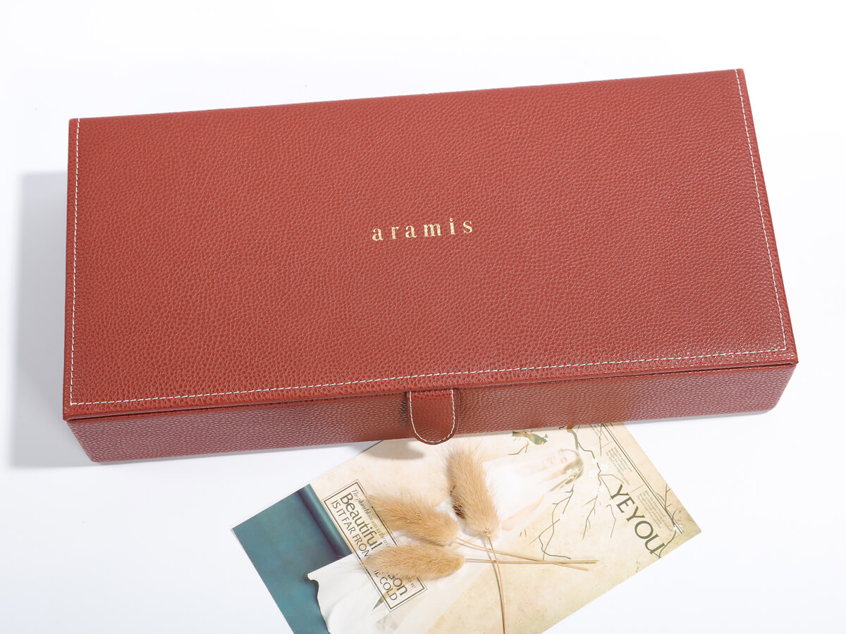 Luxury Leather Cosmetic Packaging Boxes