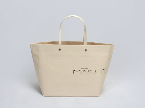 Luxury Leather Paper Ship Type Paper Bags