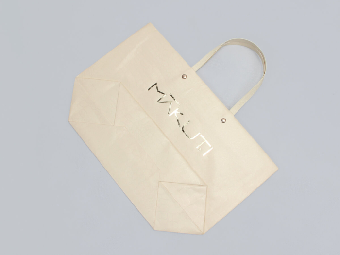 Luxury Leather Paper Ship Type Paper Bags Folding Way
