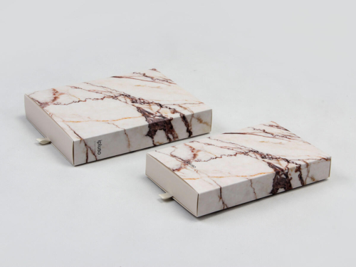 Marble Printed Pens Gift Packaging Boxes Set