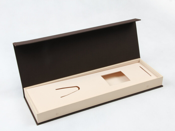 Coffee Rigid Clamshell Necktie Packaging Boxes