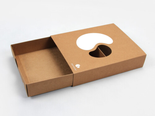 Natural Baby Scarf Kraft Paper Drawer Boxes