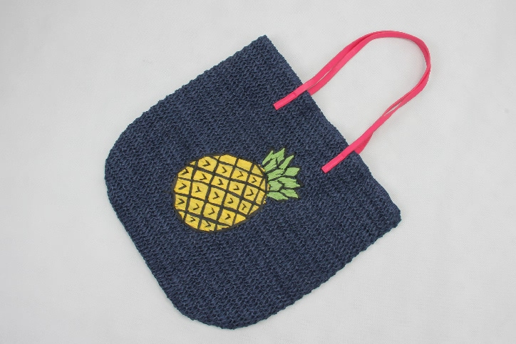 Paper String Woven Bags Straw Tote Bags Side