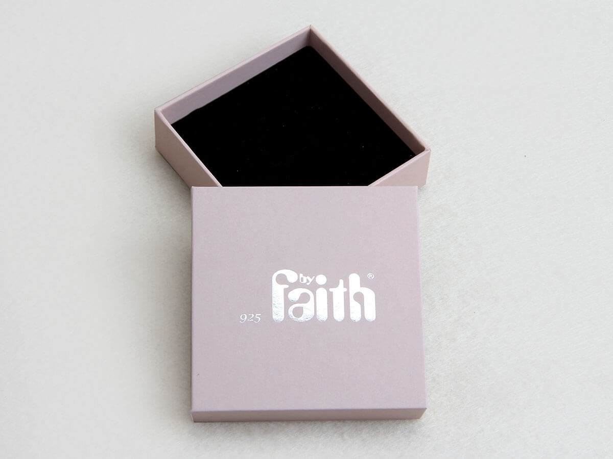 Pink Jewelry Studs Packaging Boxes LOGO Material