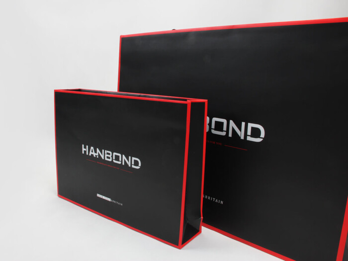 Red Inlaid Dark Garment Packaging Boxes and Bags