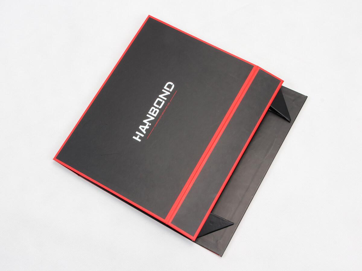 Red Inlaid Dark Shirt Packaging Boxes Folding Detail