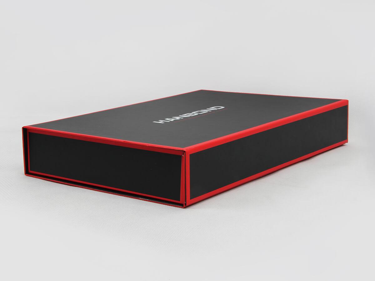 Red Inlaid Dark Shirt Packaging Folding Boxes