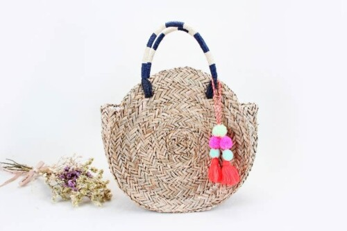 Round Straw Woven Beach Bags