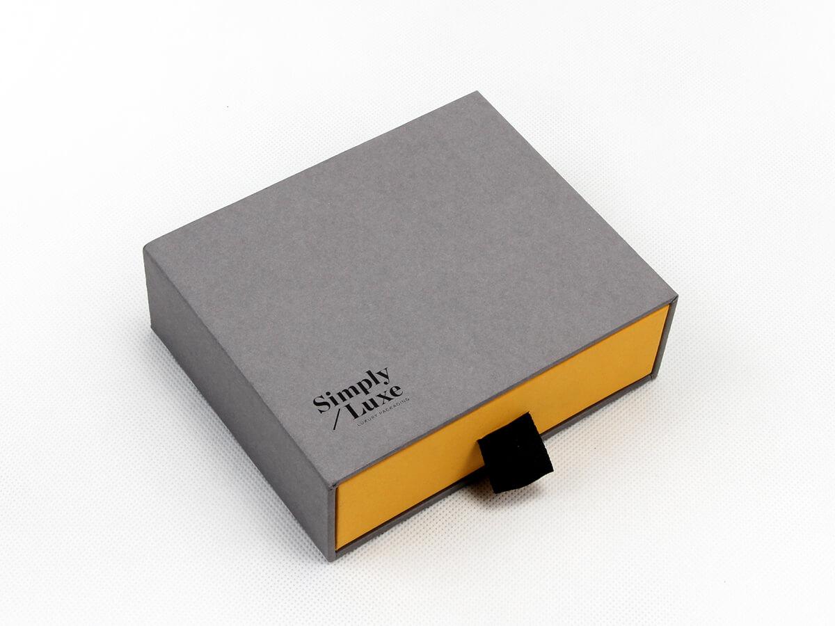 Simple Luxury Gift Packaging Boxes Side Display