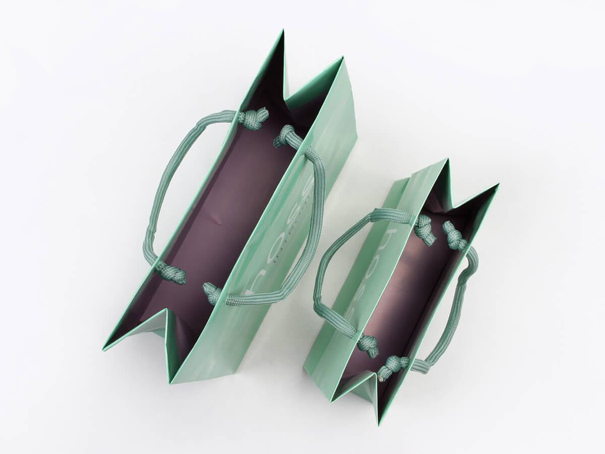 Skincare Shopping Paper Bags Inside Detail
