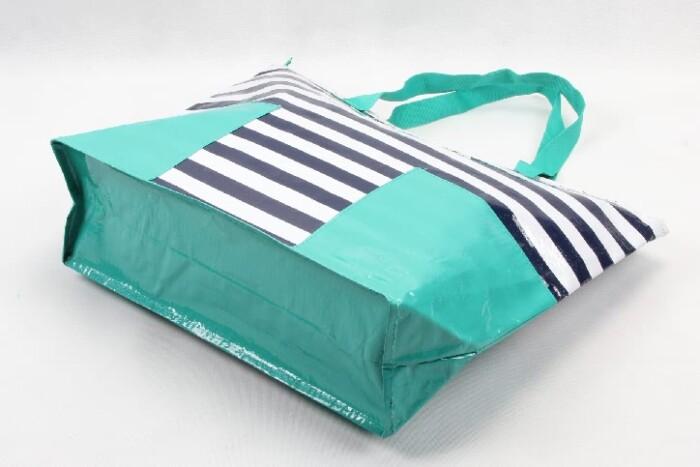 Stripes Woven PP Tote Bags Beach Bags base