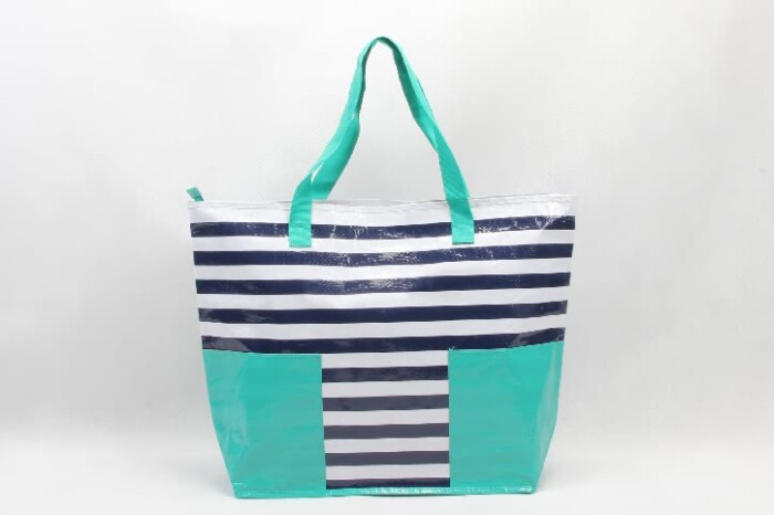 Stripes Woven PP Tote Bags Beach Bags style
