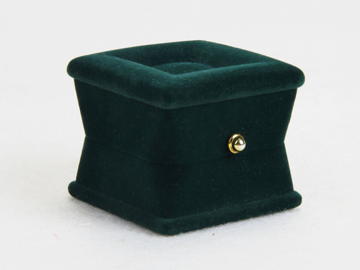 Verdant Velvet Jewelry Boxes Side Detail