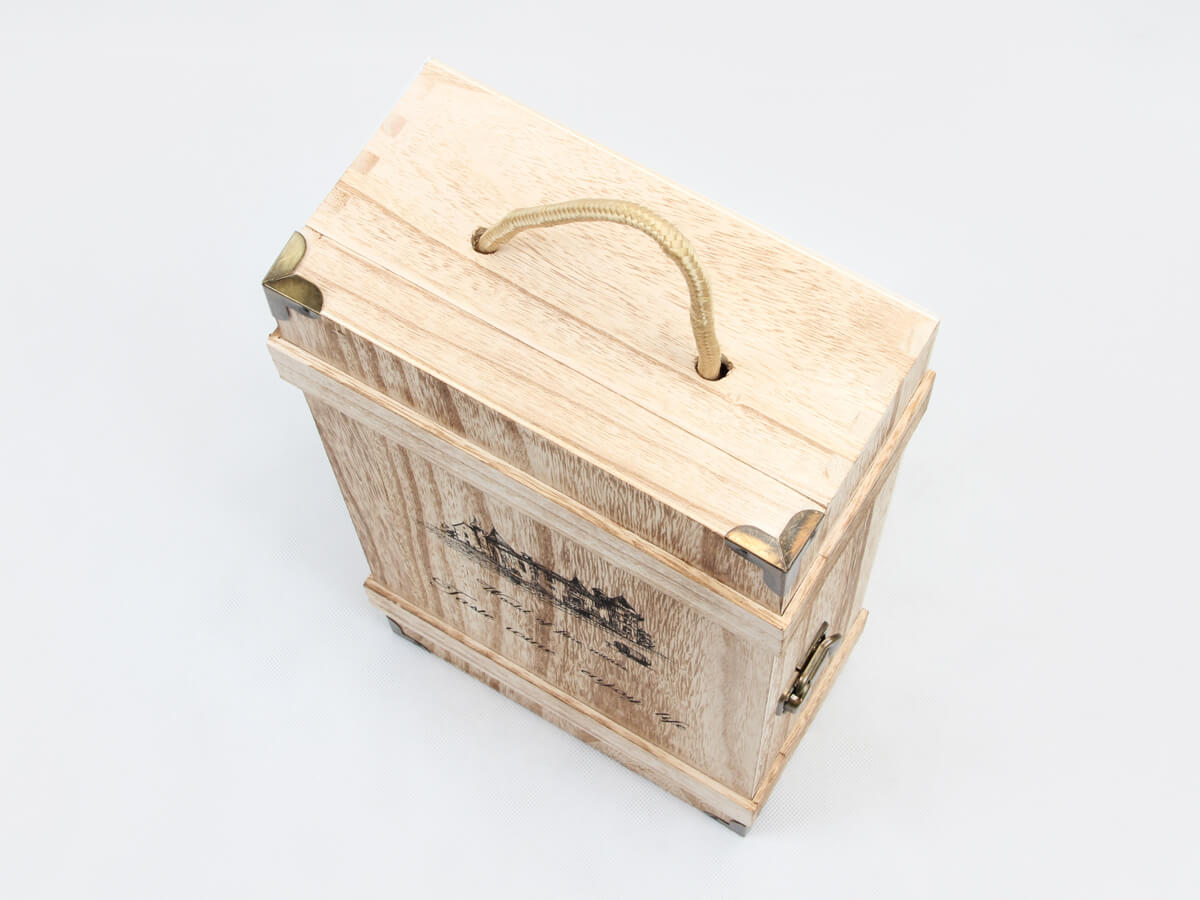 Vintage Style Wooden Wine Gift Boxes Handle