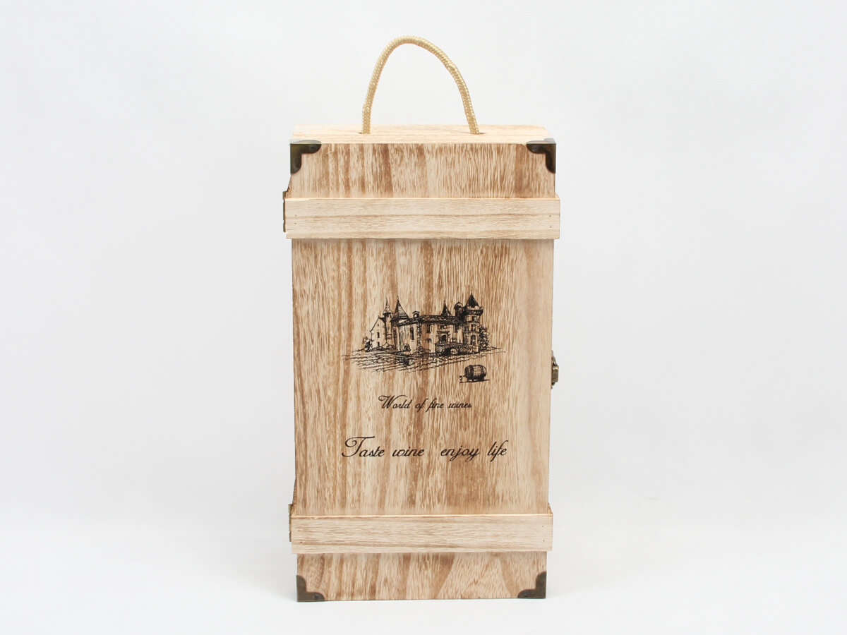 Vintage Style Wooden Wine Gift Boxes LOGO Printed