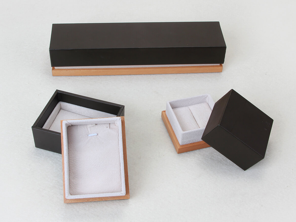 Wooden and Leather Paper Jewelry Packaging Boxes