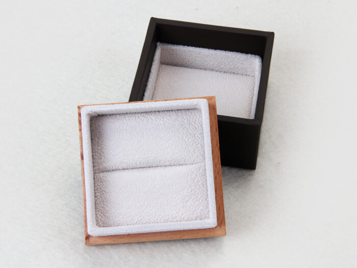 Wooden and Leather Ring Paper Packaging Boxes