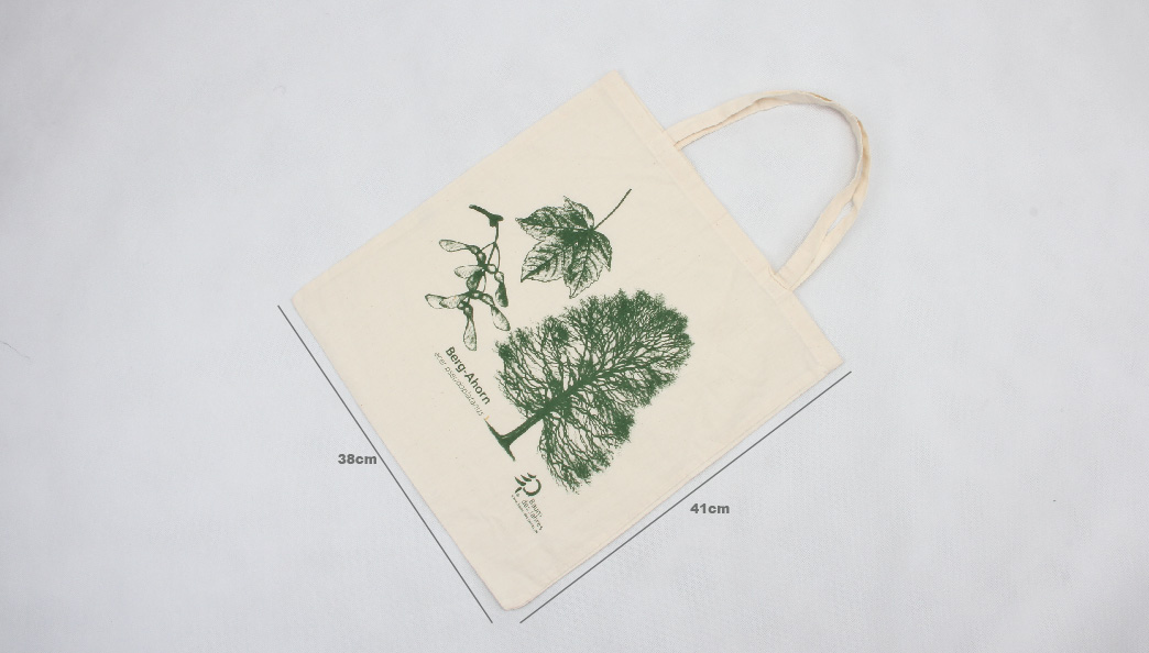 ECO-friendly Cotton Tote Bags With Forest Printed Size