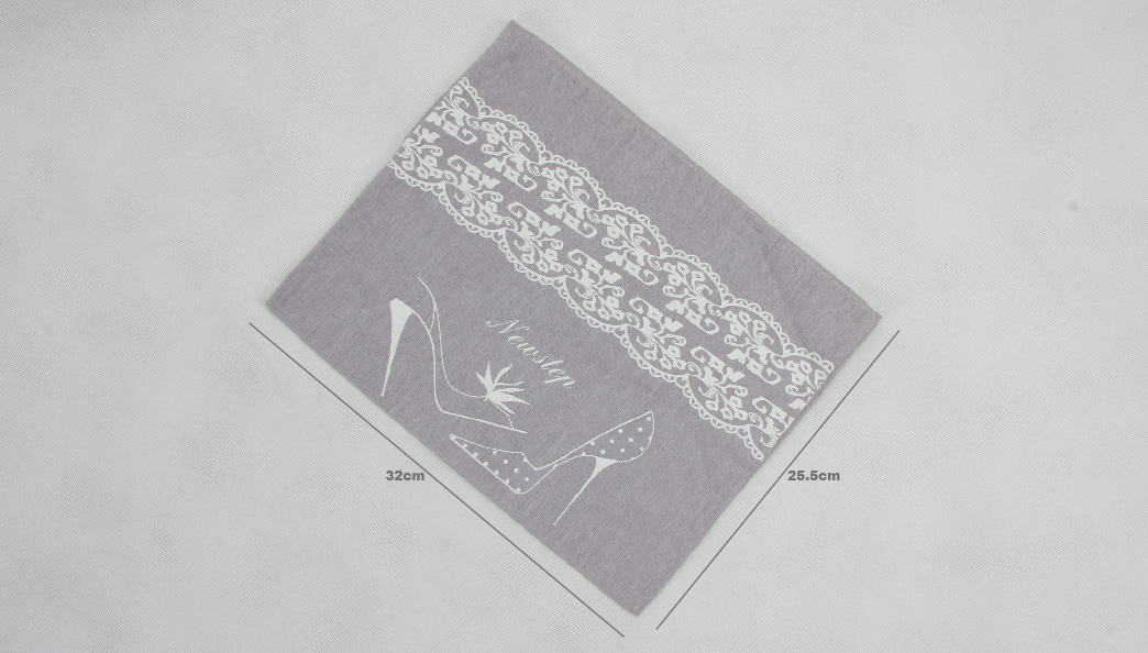 Lilac Cotton Underwear Bags With Flaps Size