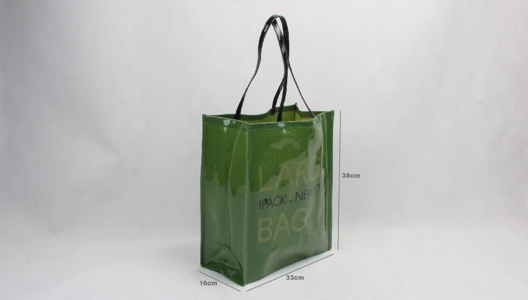 Original Glossy Green PVC Shopping Bags Size