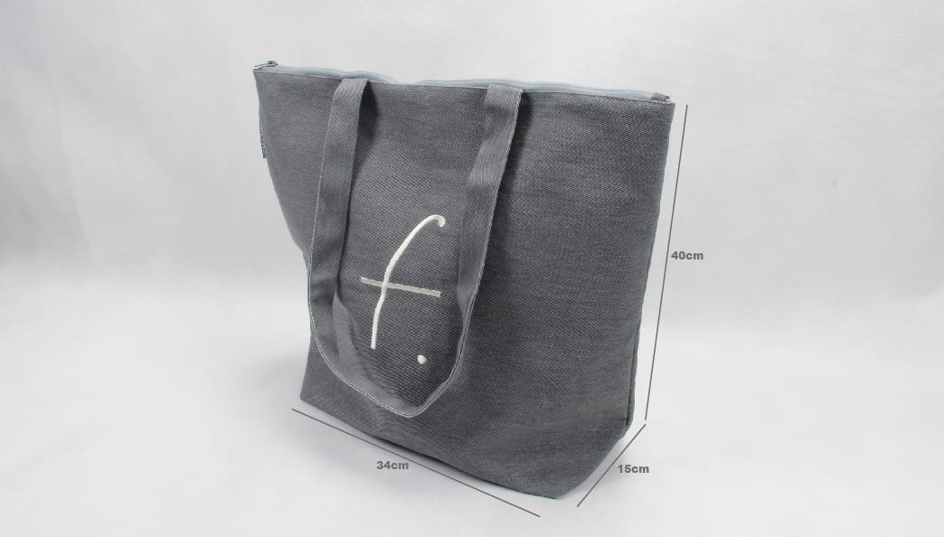 Premium Quality Canvas Tote Bags With Zipper Size