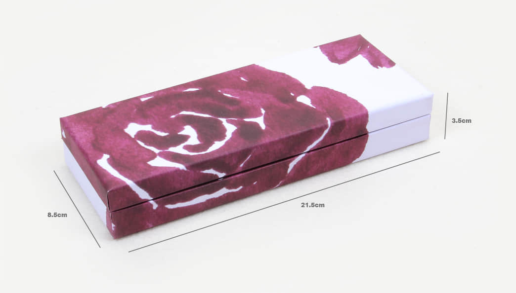 Purple Roses Clamshell Gift Paper Boxes Size