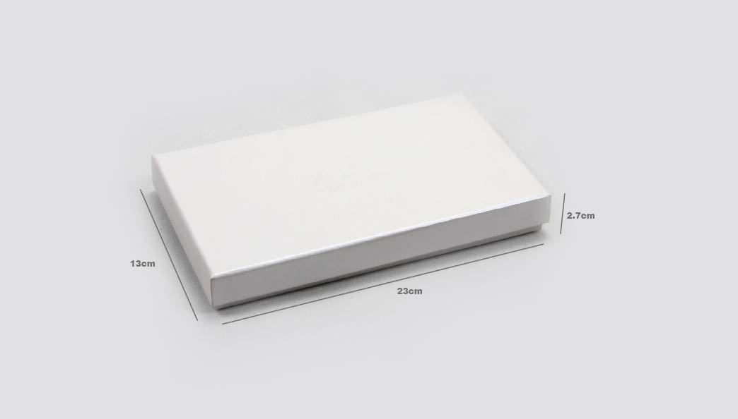 Pearl White Blindfold Packaging Boxes Size