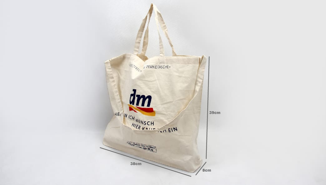 Supermarket Cotton Shopping Bags With One Strap Size