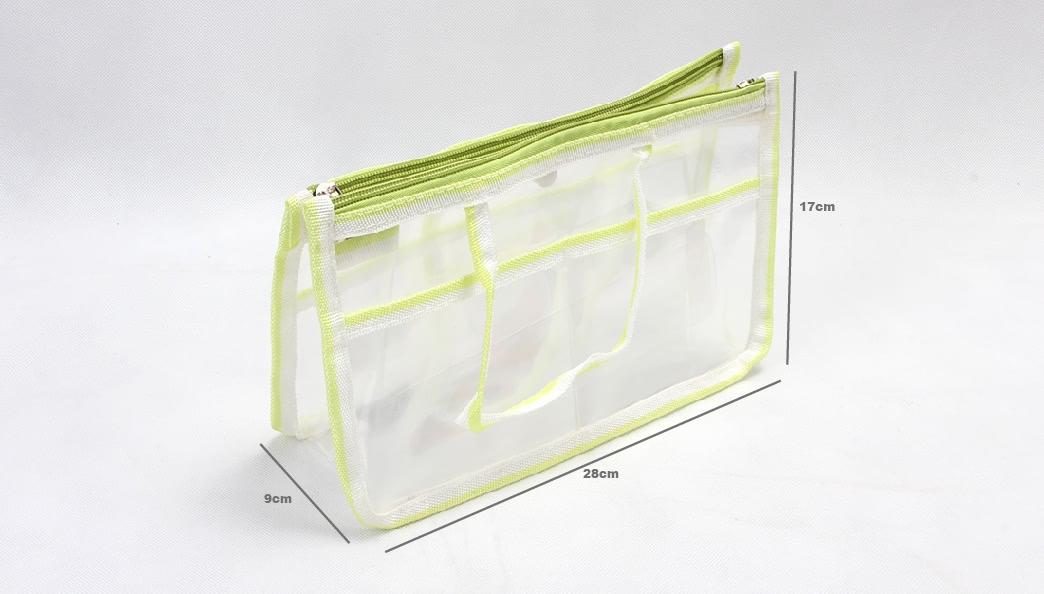 Transparent EVA Handle Bags Toiletry Travel Bags Size