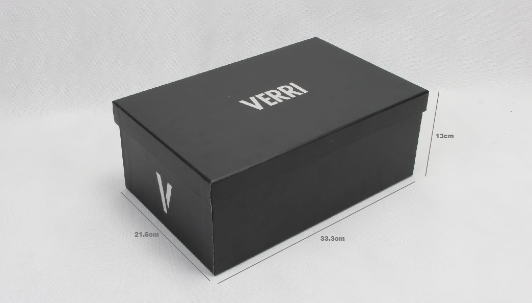Upscale Black Paper Shoe Boxes With Lid&Base Size