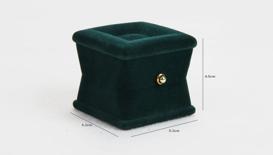 Verdant Velvet Jewelry Boxes Size