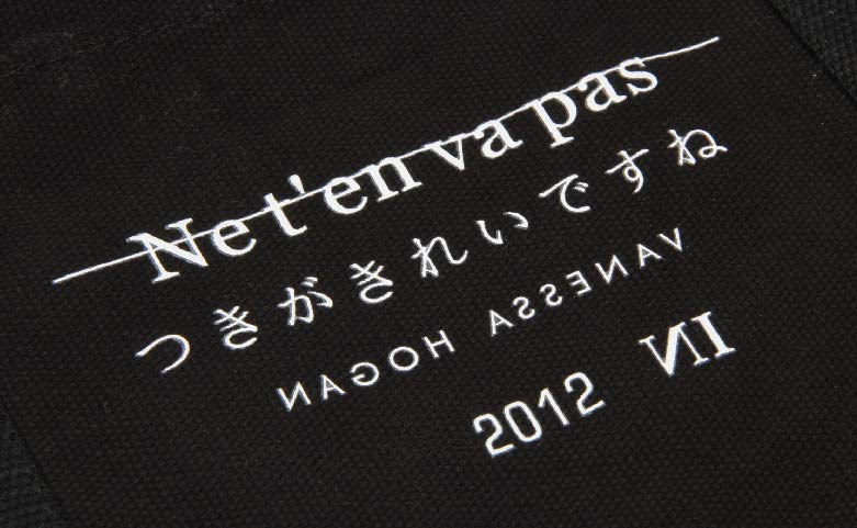 Black Canvas Tote Bags With Long Handles Logo