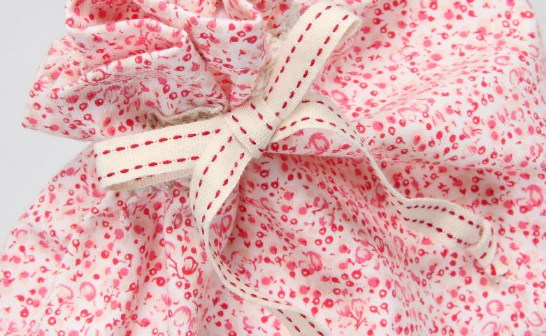 Cute Pink Bowknot Drawstring Underwear Bags Detail
