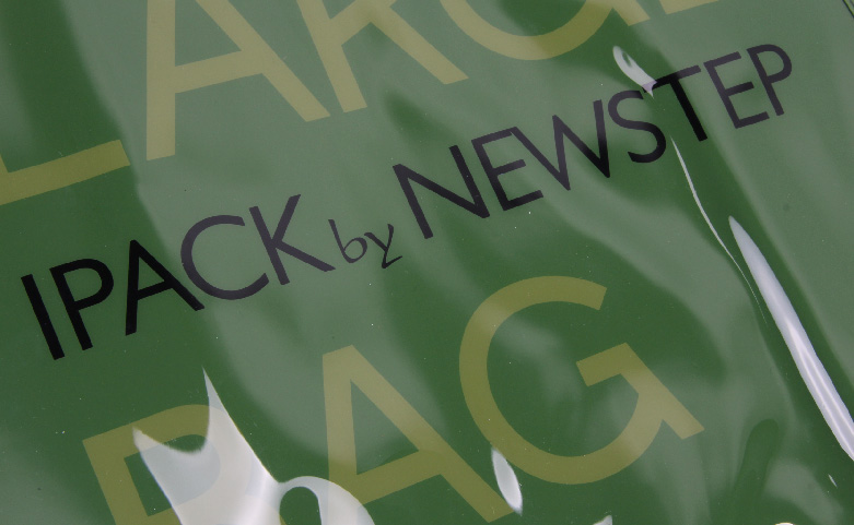 Original Glossy Green PVC Shopping Bags Logo