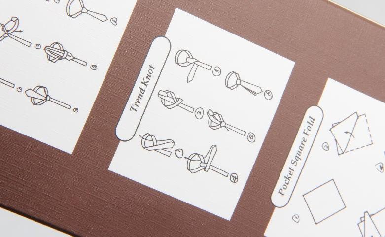 Rectangular Brown Fortunatever Necktie Boxes Detail