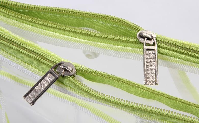 Transparent EVA Handle Bags Toiletry Travel Bags Zipper